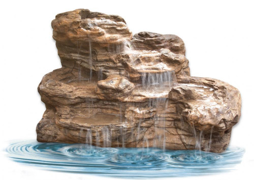 Ponds - pond waterfalls - waterfalls - Large Edge Waterfall - LEW-003