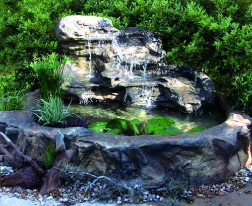 Ponds - pond waterfalls - waterfalls - Large Edge Waterfall - LEW-003-MED