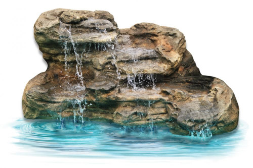 Ponds - pond waterfalls - waterfalls - Large Edge Waterfall - LEW-003-MED