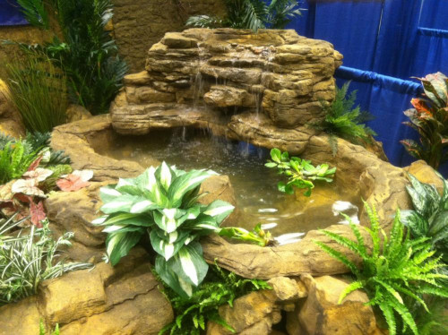 Ponds - pond waterfalls - waterfalls - Large Edge Waterfall-LEW-006-corner