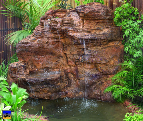 Ponds - pond waterfalls - waterfalls - Large Waterfall-LW-003