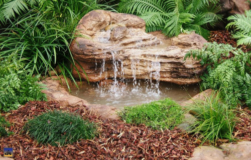 Ponds - pond waterfalls - waterfalls -  Medium Waterfall - MW-009