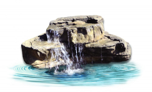 Ponds - pond waterfalls - waterfalls - Medium Waterfall - MW-015