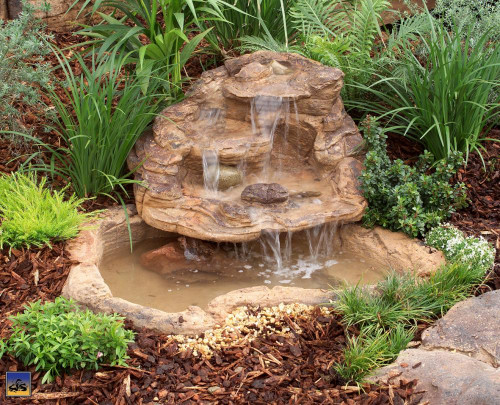 Ponds - pond waterfalls - waterfalls -  Small Rock Waterfall - SRW-018