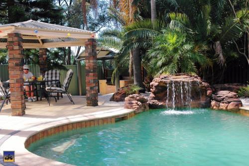 "Kits - Pool waterfall -""Oasis"" Complete Swimming Pool Waterfall Kit - FREE SHIPPING!"