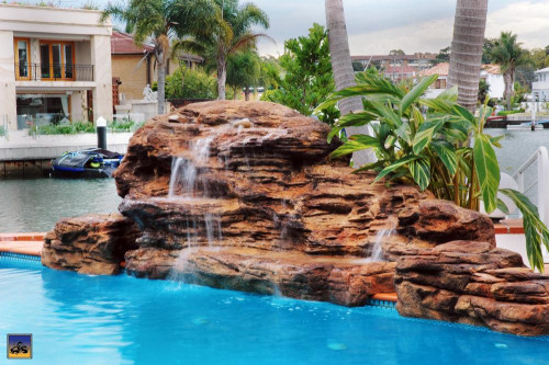 "Kits - Pool waterfall - ""Cascades"" Complete Swimming Pool Waterfall Kit - FREE SHIPPING!"