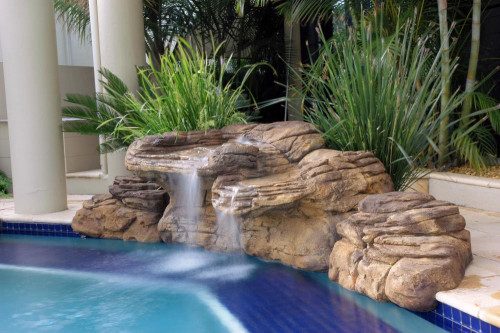"Kits - Pool waterfall - Kits - Pool waterfall - ""Beachcomber"" Complete Swimming Pool Waterfall Kit  - FREE SHIPPING!"