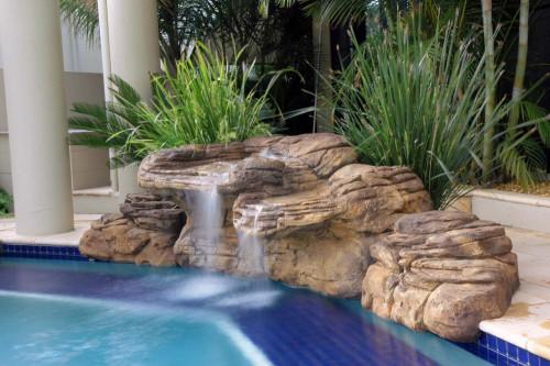 "Kits - Pool waterfall - Kits - Pool waterfall - ""Beachcomber"" Complete Swimming Pool Waterfall Kit  - FREE SHIPPING!"