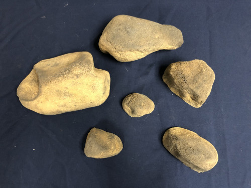 Stonecluster-002: Set of 6 river stones