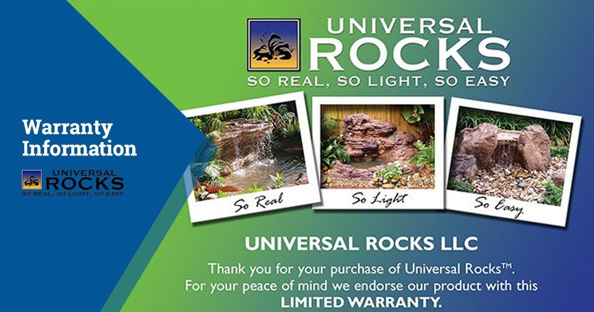 Universal Rocks Warranty