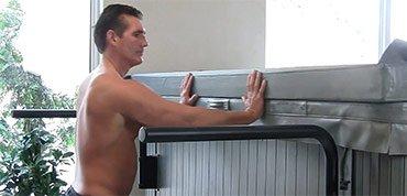 swim spa cover shelf