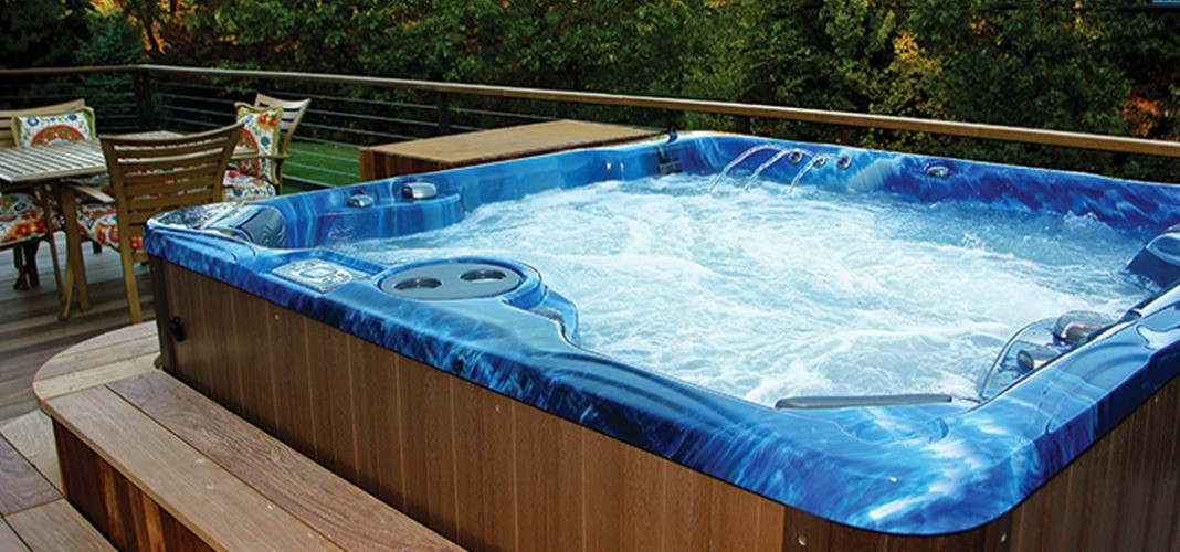 PDC Spas hot tub custom steps