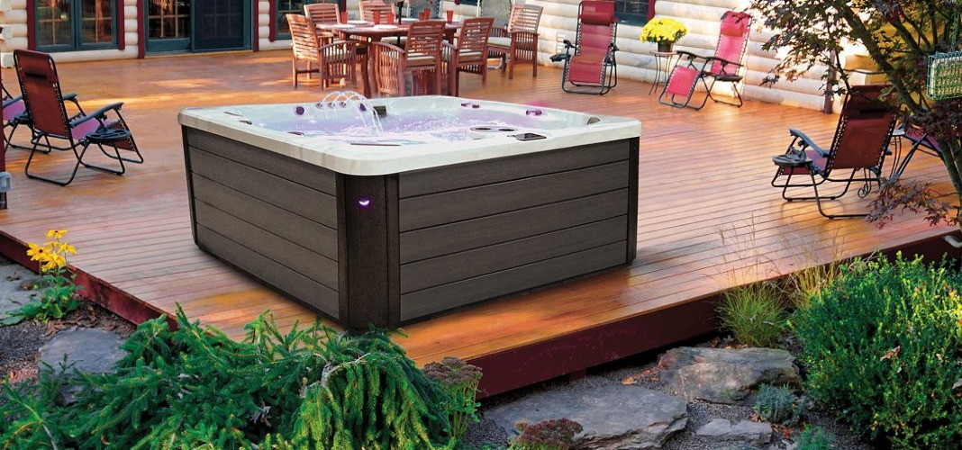 PDC Spas hot tub on deck