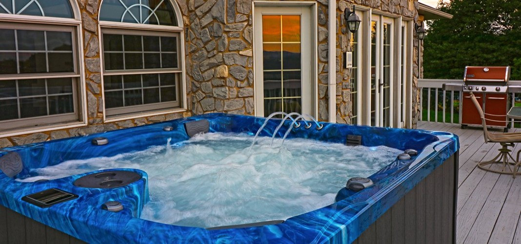 PDC Spas hot tub blue saphire