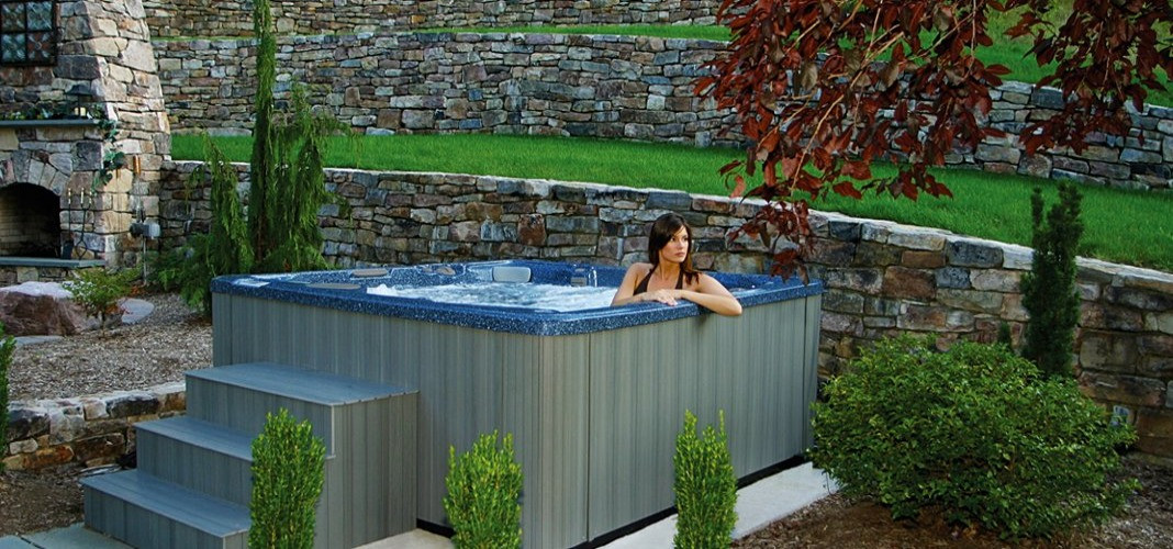 PDC Spas hot tub back patio