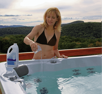 Cleaning a Hot Tub with Chemicals