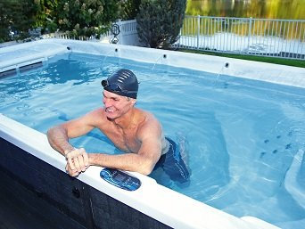 Swimming in Swim Spa