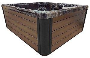 borwn hot tub cabinet siding