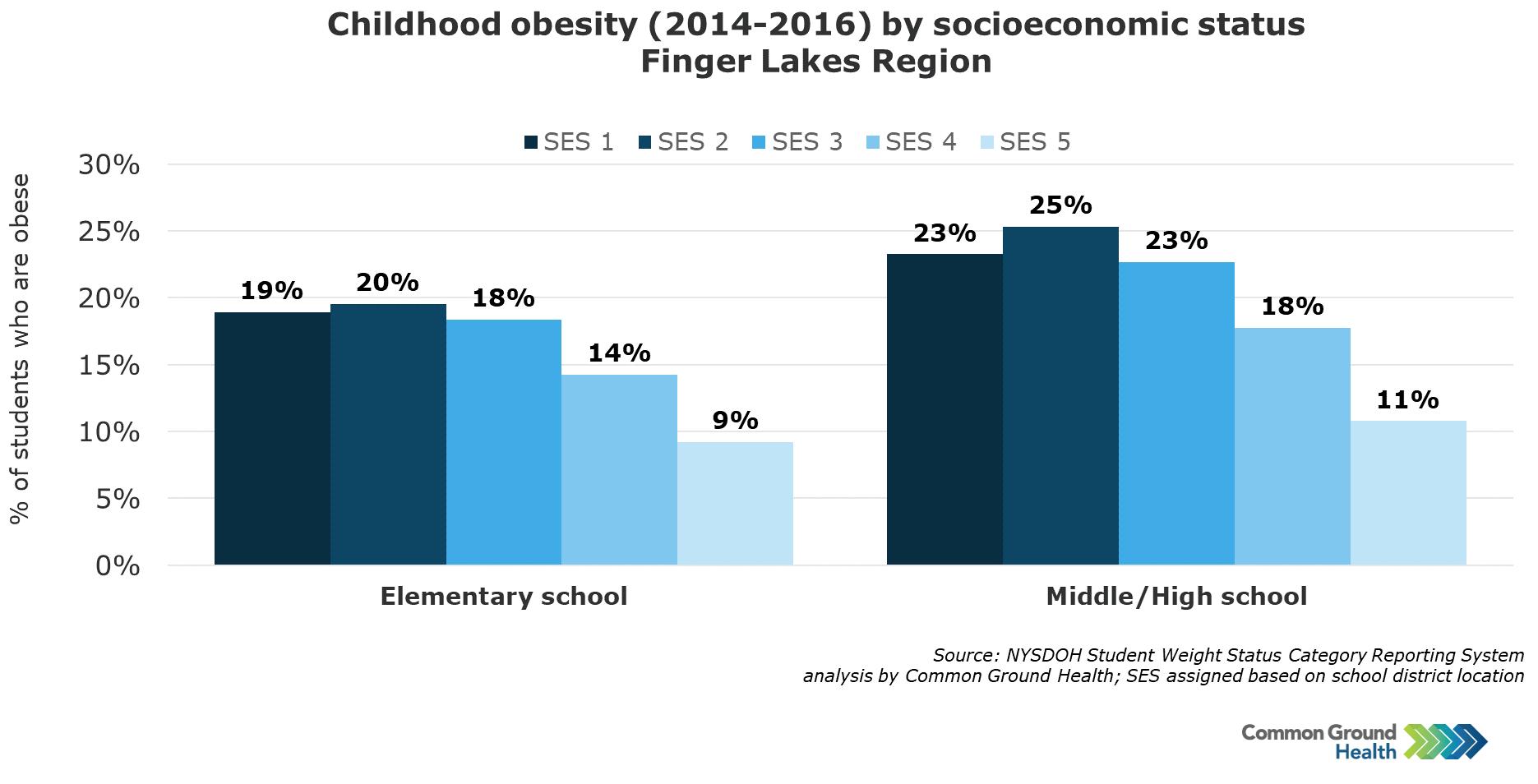 Childhood Obesity by Socioeconomic Status