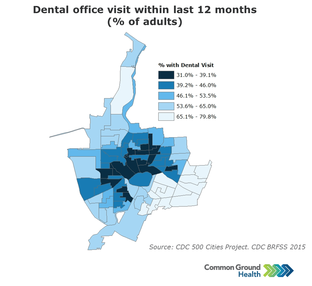 Dental Office Visit within Last 12 Months, Adults