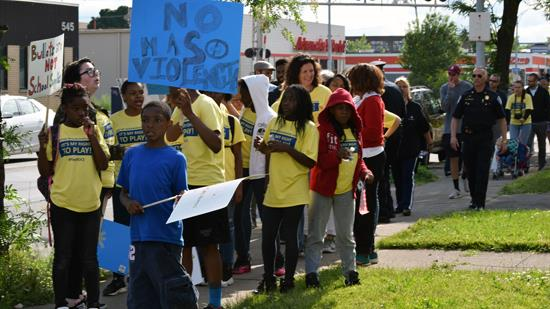 Kids marched in Rochester for the right to play in a safe neighborhood