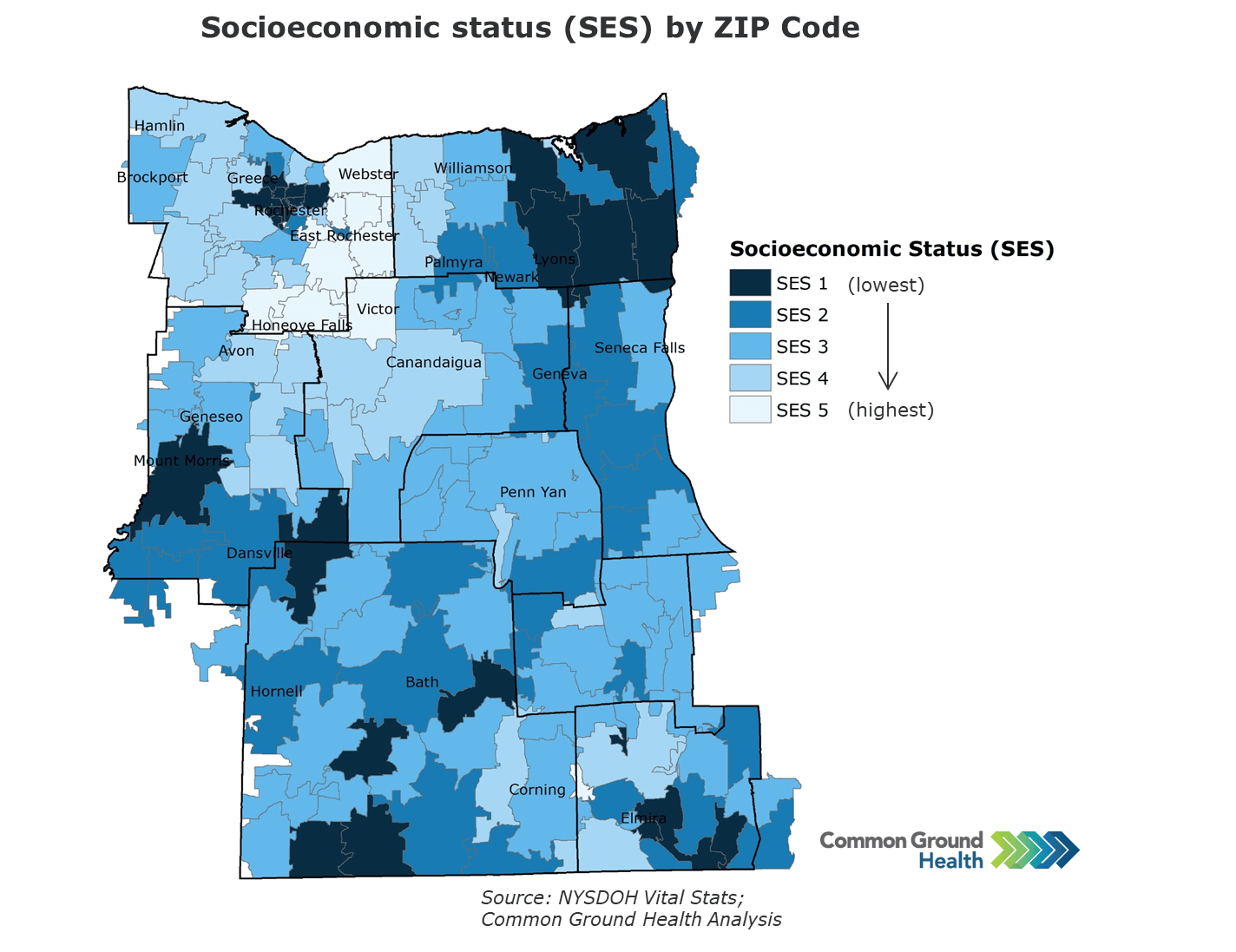 Socioeconomic Status (SES) by Zip Code