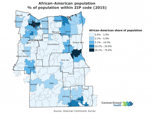 African-American Population % of Population within ZIP Code