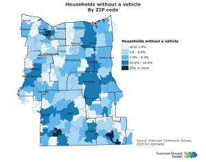 Households without Vehicle by ZIP Code