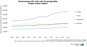 Unnecessary Emergency Department Visit Rate by Geography