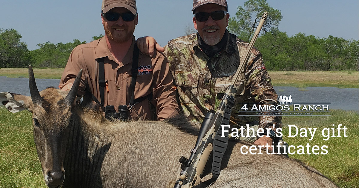 Hunting Vacation Gift Certificates for Father's Day