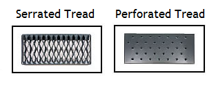 Industrial Stainless Steel Ladder Tread Selections