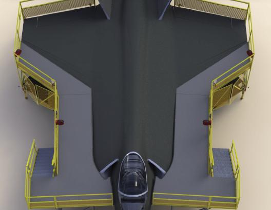 F-35 Wrap Around Maintenance Stand