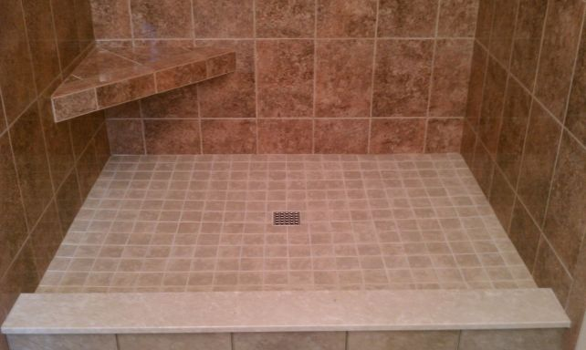 Custom Tile Shower Pans