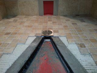 tiled shower remodel