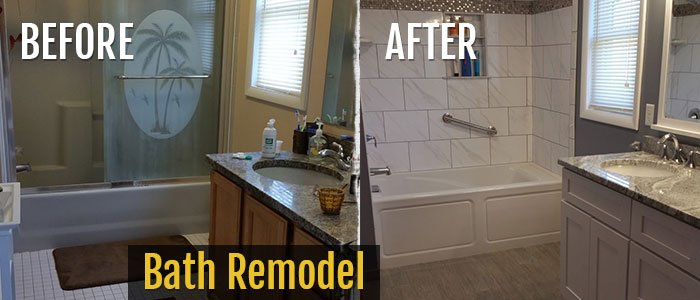 Bath Remodel Before & After