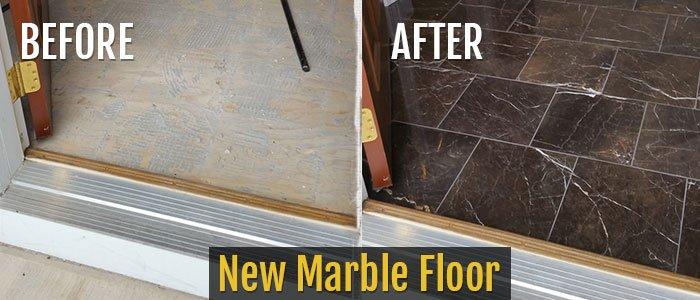 New Marble Floor