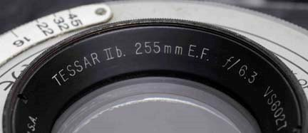 A Bausch and Lomb Zeiss tessar lens