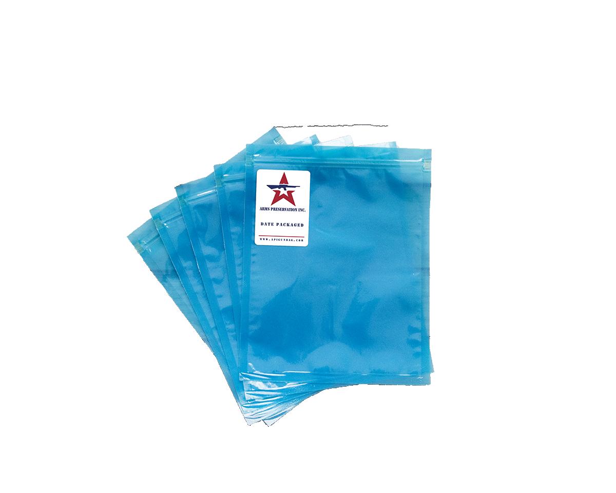 multiple blue stacked API large gun parts storage bag