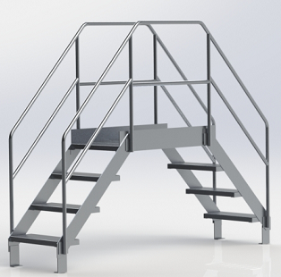 Food Grade Aluminum Crossover Ladder