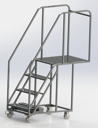 Clean Room Cantilever Ladder