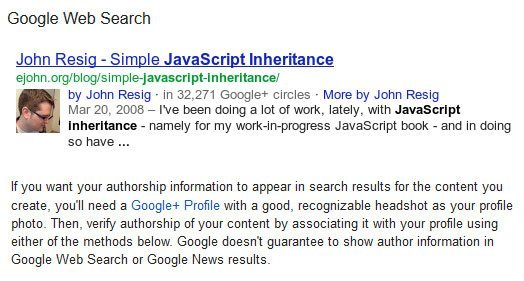 Google's Example Authorship Photo Image
