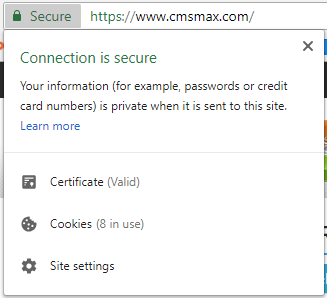 Google Chrome Secure Website