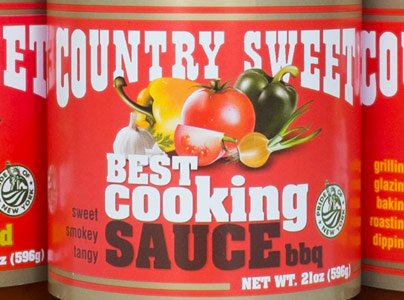 Country Sweet BBQ Sauce Bottle