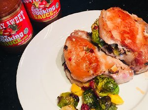 Cranberry, Brussels Sprouts and Squash Stuffed Pork Chops Recipe