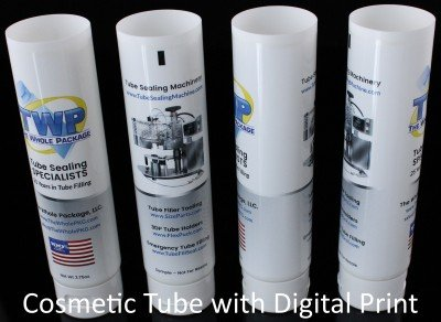 cosmetic tube digital print