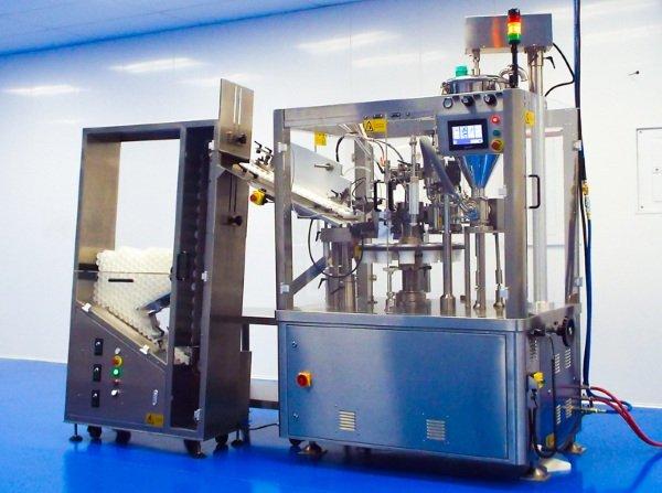 hot air tube filling machine