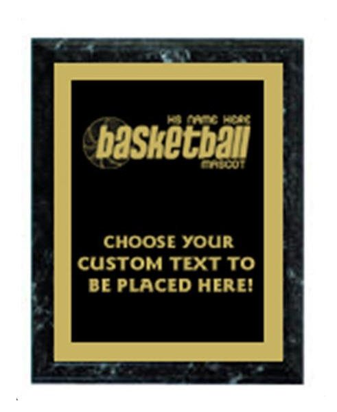 Basketball Black Marble Plaque