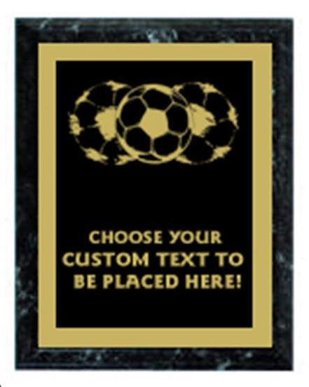 Soccer Black Marble Plaque