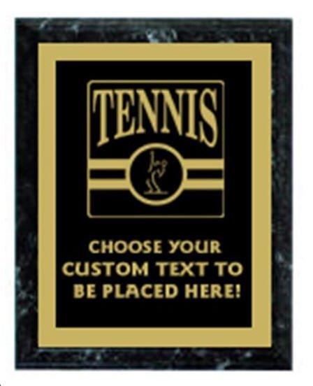 Tennis Black Marble Plaque