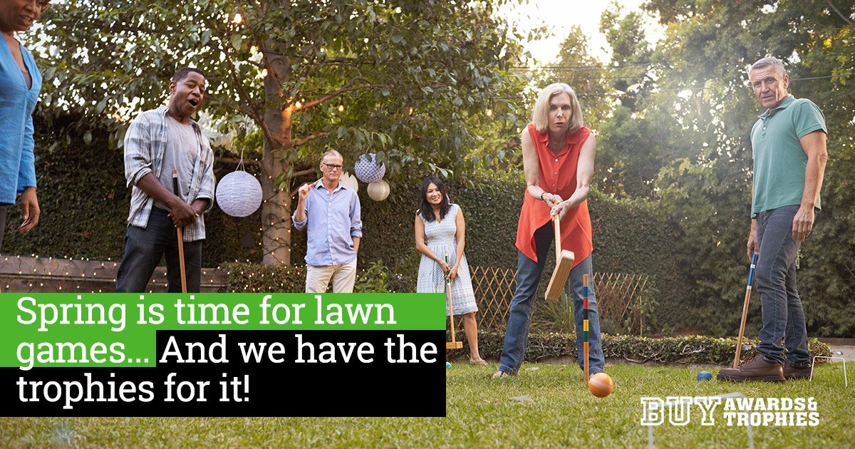 Spring is time for lawn games... And we have the trophies for it!